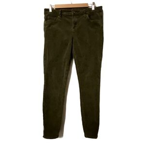 Edyson forest green ankle skinny corduroy pants 30
